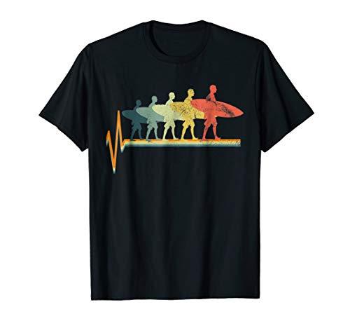 Surfing T-Shirt Evolution Tshirt Vintage Surfer Gift Tee