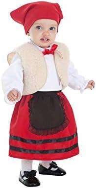 Creaciones Llopis Disfraz de Pastora con Chaleco para bebé
