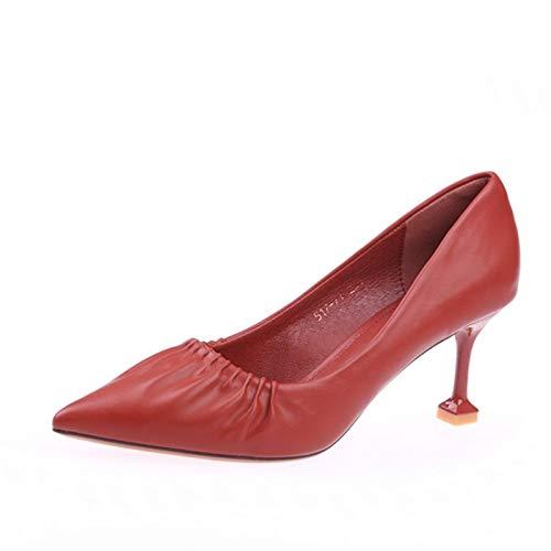D La Boca Zapatos el Primavera Las de YMFIE otoño señoras Gato Acentuados Moda Baja Tacones Altos de tacón de Zapatos Aguja Solo de cómodos y de 4HdHWxc