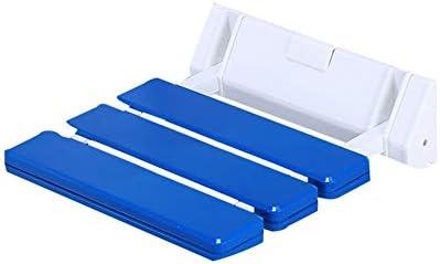 バスルーム折りたたみシート壁掛けシャワーチェアお手入れ簡単、ノンスリップ強い支持力バスルームシャワーバスシート、折りたたみシャワーシート私たちが愛する人のための親密な贈り物 (Color : 青)