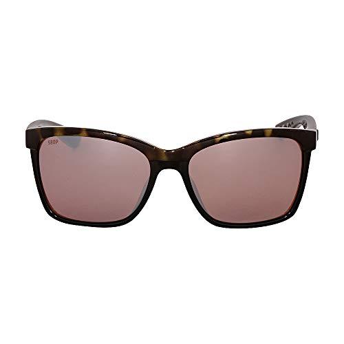 Costa Del Mar Anna Sunglasses Shiny Olive Tortoise on Black/Copper Silver Mirror ()
