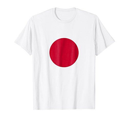 - Mens Japan Rising Sun Japanese Flag Nisshoki Hinomaru T-Shirt Small White