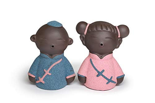 A Pair of Little Couple for Wedding Flower Girl & Boy Made of Clay Best Wedding Gifts, Tea Pet Decoration, ()