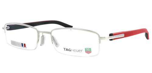 Tag Heuer Trends Rubber 8208 Semi Rimmed Eye Glasses 005 Polished/red - New Glasses Trends