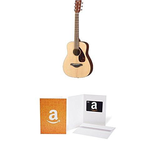 Yamaha Guitar Package (Yamaha JR2 3/4 Size Guitar with Gig Bag, Natural with $20 Amazon.com Gift Card)