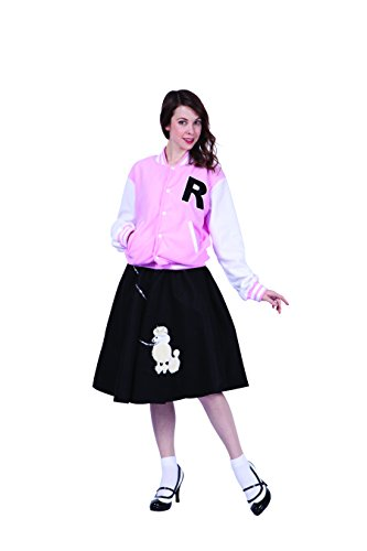 RG Costumes Women's Letterman Jacket, Pink, Small ()