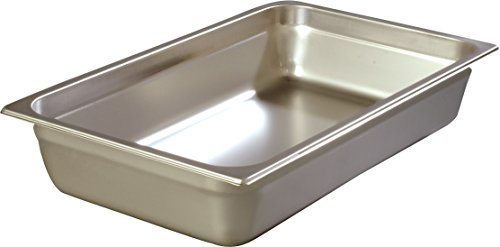 Carlisle 608004 DuraPan Steam Table Pans, Set of 6 (Full-Size, 4-Inch, Stainless Steel, ()