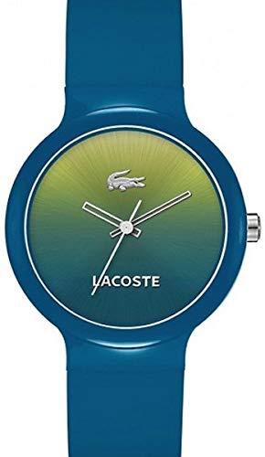 Lacoste GOA - Reloj de cuarzo para mujer, correa de plástico color azul