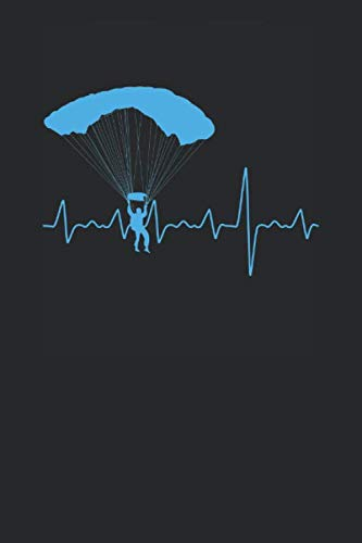 Paragliding Heartbeat: Paragliding Notebook, Blank Lined (6