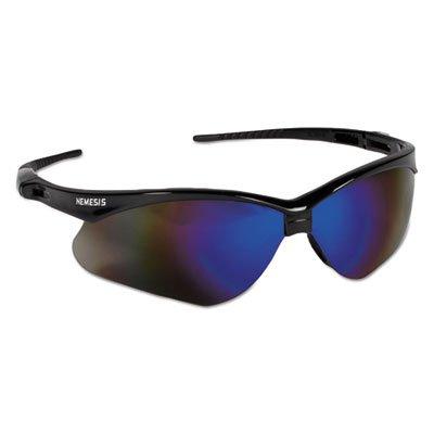 Jackson Safety 3000358 Nemesis Safety Glasses Black Frame / Blue Mirror Lens
