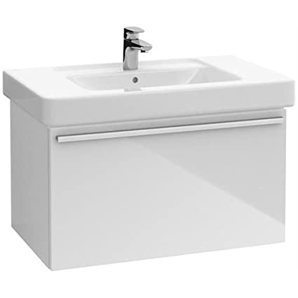 Villeroy And Boch A274E2DH Central Line Vanity Unit In Glossy White