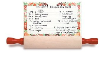 Mountain Woods Rolling Pin Recipe Card Holder