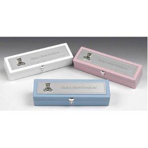 NEW PINK GIRL'S BIRTH CERTIFICATE BOX / CERTIFICATE HOLDER / BABY SHOWER (Keepsake Certificate)