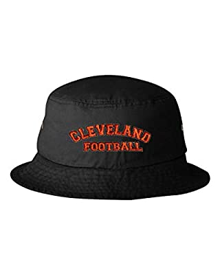 Go All Out Adult Cleveland Football Embroidered Bucket Cap Dad Hat