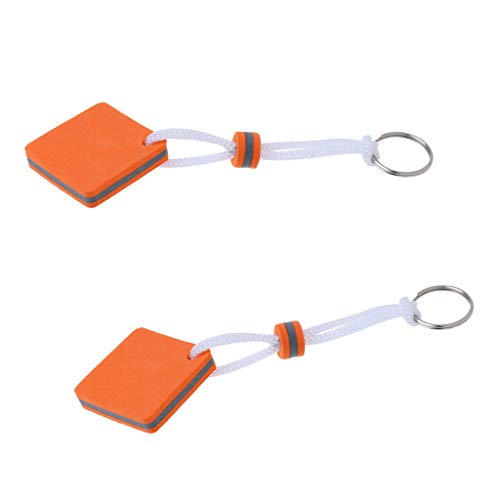 NATFUR 2X Boating Foam Floating Keyring Keychain Captain Gift Toy- Square Orange Key-Chain for Women Cute for Men Perfect for Gift Novelty Great Beauteous