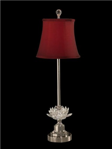Dale Tiffany GB11259 Susannah Crystal Buffet Lamp - Polished Nickel