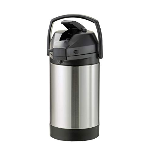 Economy Airpot - Service Ideas SVAP38CPL Economy Airpot with Lever, Stainless Steel Lined, NSF Listed, 3.8 L
