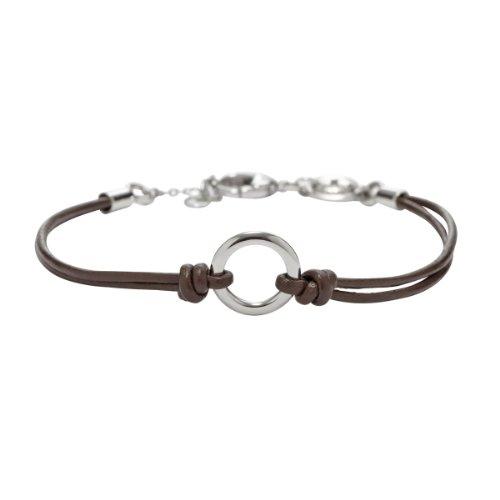 Lederarmband für damen fossil  Fossil Jewelry Damen-Armband Edelstahl braun JF00463040: Amazon.de ...