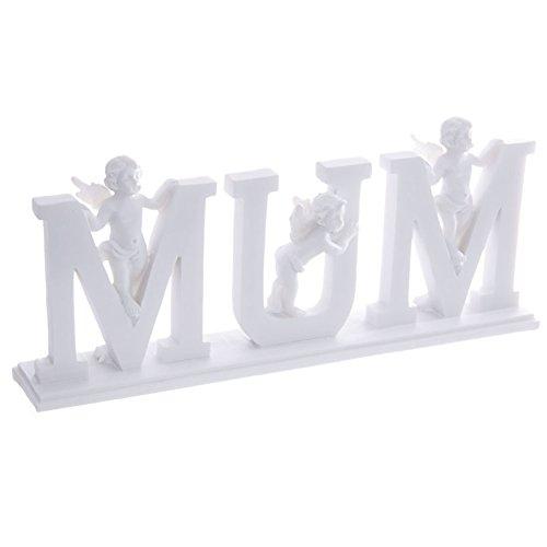 Decorative Cherub Letters Plinth Mum Birthday Anniversary Mothers Day ()