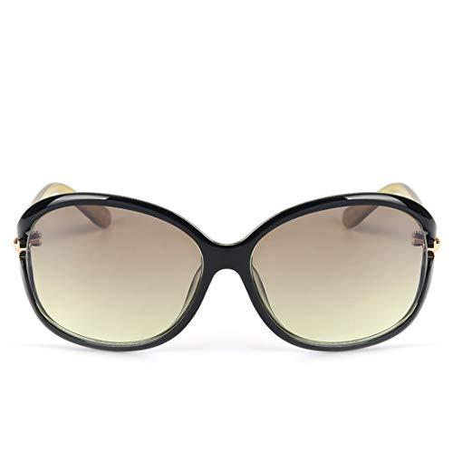 Frame metálica Green de Sol Sakuldes Mujer 100 Lens Lens UV400 Gradient Tea Green Frame para con Montura Color Gafas w7qwZXB