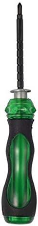 ミニダブルエンドドライバーフラットフィリップススクリュードライバーナイフユーティリティハンドツール修復ツールハンドツール磁気-5inch