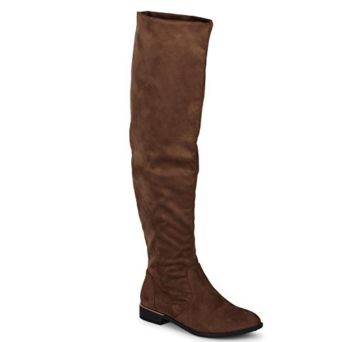 Wanted Flatland Taupe vegan Suede Over Knee / Cuff Scrunch Slouchy Flat Boot (6.5) Suede Scrunch Boot