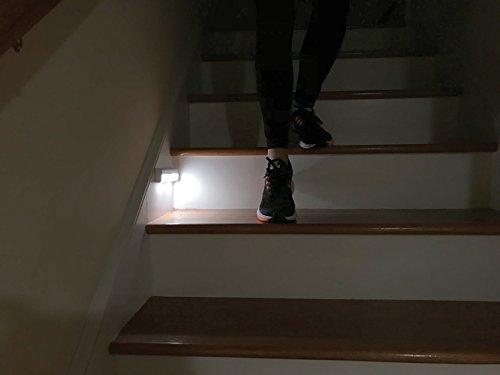 Brilliant Evolution Wireless LED Stair Lights 3 Pack | LED Motion Sensor Light | Closet Light| Battery Operated Light | Stick On Lights | Motion Activated Indoor Step Lights | Motion Night Light by Brilliant Evolution (Image #1)