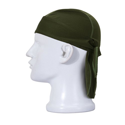 ZQXPP QH138 Motorcycle Biker Skull Caps Quick-drying Sunscreen Sweat Pirate Scarf/Personalized Scarf Hat Green
