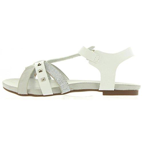 Cheiw Sandalen Für Mädchen 45684 C17921 NAPETA BLAN Schuhgröße 35