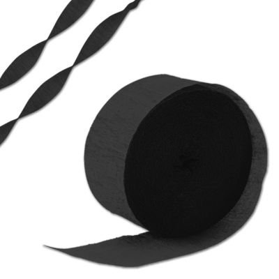 Rolle schwarzes Krepppapier