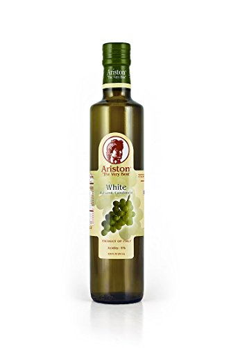Aged Organic Vinegar (Ariston White Balsamic Vinegar 8.45oz Traditional Organic Product of Modena, Italy)