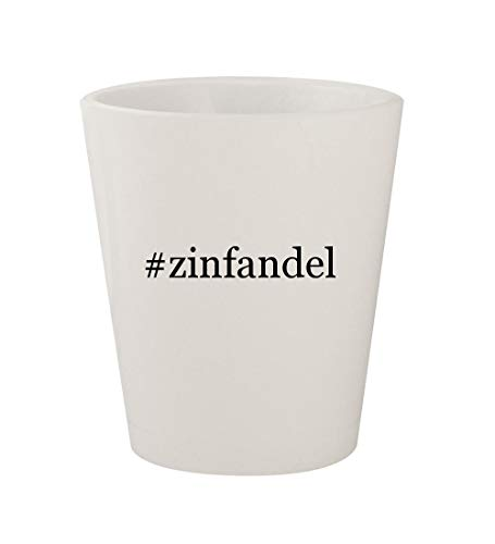 (#zinfandel - Ceramic White Hashtag 1.5oz Shot Glass)