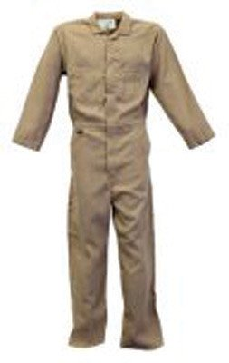 Stanco Medium Tan 4.5 Ounce Nomex® IIIA Flame Retardant Coverall With Front Zipper Closure And Elastic Waistband ()