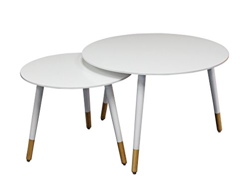eHemco Euro End Tables Side Table Coffee Table ()