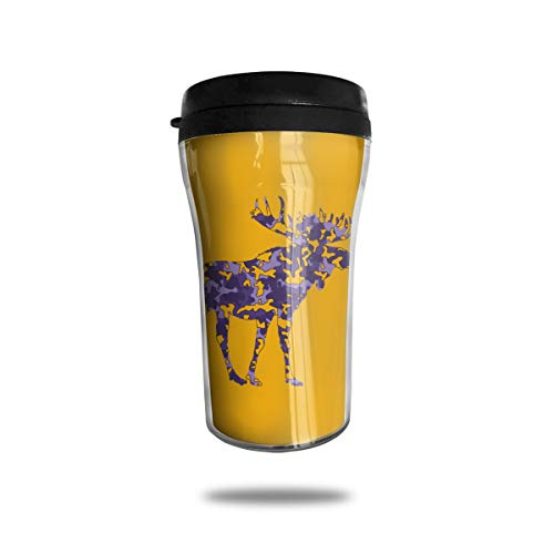 Lodve Hvst Camouflage Moose Flag 8.45oz Coffee Mug Birthday Gifts Insulated Water Bottle Leakproof
