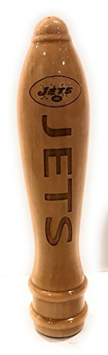 New York Jets Engraved Pub Style Beer Tap Handle Natural