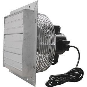 Amazon com: ValuTek Direct Drive Exhaust Fan w/Shutters 12