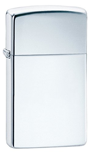 (Zippo Slim High Polish Chrome Armor Pocket Lighter)