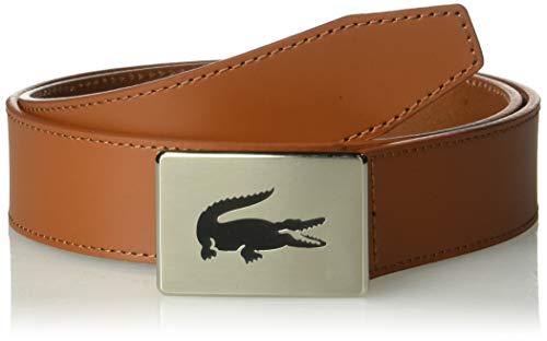 Lacoste Men's Classic Big Croc Buckle Belt, Tan, 30