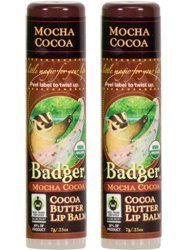 Oil Cocoa Butter Olive (Badger Mocha Cocoa Organic Cocoa Butter Lip Balm (Pack of 2) with Olive Fruit Oil, Cocoa Seed Butter, Beeswax, Castor Seed Oil, Coffee Extract, Rosehip, Rosemary and Seabuckthorn, 0.25 oz)