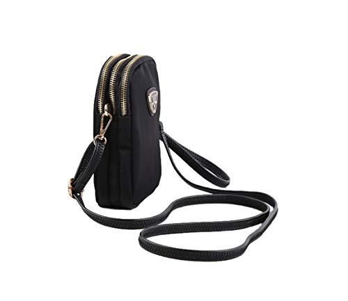 Crossbody Phone Phone Wallet Cell A Purse Holder Smartphone Small Bags Suchelle Black Womens wqE11HU