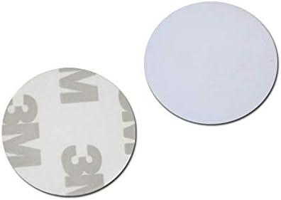 Waizmann.IDeaS® 50x RFID Tag 1K 13,56 MHz ODER 125Khz COIN 25mm Ø PVC Transponder Wasserdicht Selbstklebend