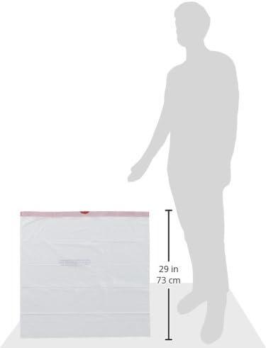 Amazon Brand - Solimo Tall Kitchen Drawstring Trash Bags, 13 Gallon, 90 Count