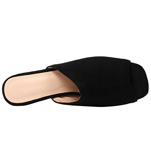 Caviglia sulla Nero AIYOUMEI Aperte Donna EfR5wqAZx