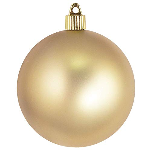 Christmas by Krebs Large Commercial Shatterproof UV Resistant Plastic Christmas Ball Ornament Wedding Party Event Decor, 4