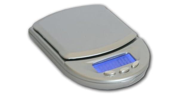 Kaminbau Mierzwa (df-shopping)  Báscula Digital de Bolsillo KL de 118/500 g - 0.1 g/6 Unidades de Cuna/Auto de Off/Función de Tara/Función de ...