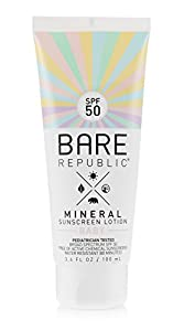 Bare Republic Mineral SPF 50 Baby Sunscreen Lotion (3.4 oz)