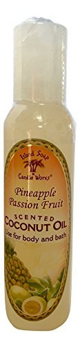 Island Soap and Candle Works Scented Coconut Oil, Pineapple Passion Fruit