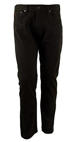 Ralph Lauren Belted Jeans (Polo Ralph Lauren Men's Hampton Straight-Fit Jeans 32W x 30L Hudson Black)