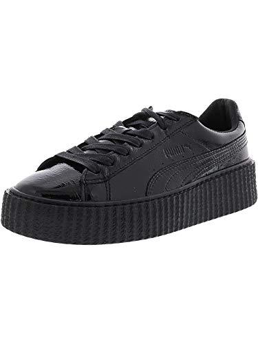 PUMA Women's Fenty x Cracked Creeper Sneakers, Black Black, 8.5 B(M) US